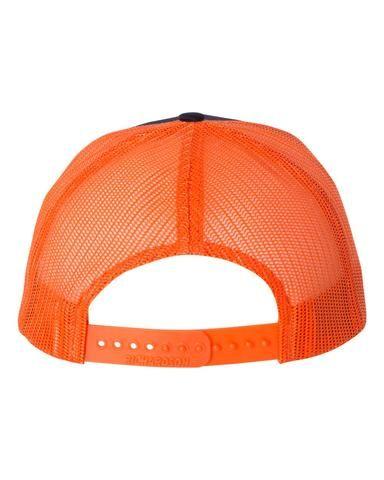 894a1ccd Navy Orange - Snapback Trucker Hat | Richardson Blank Snapback ...
