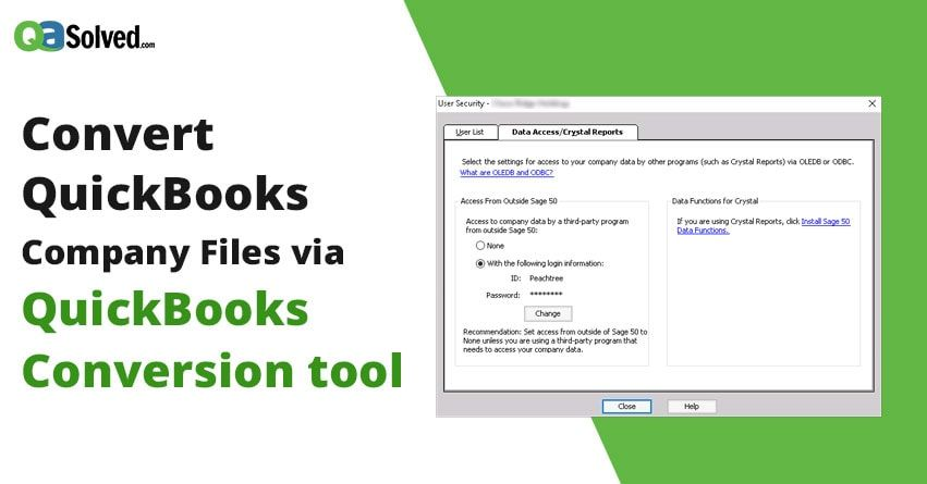 Quickbooks Conversion Tool That Allows You To Convert Your Company
