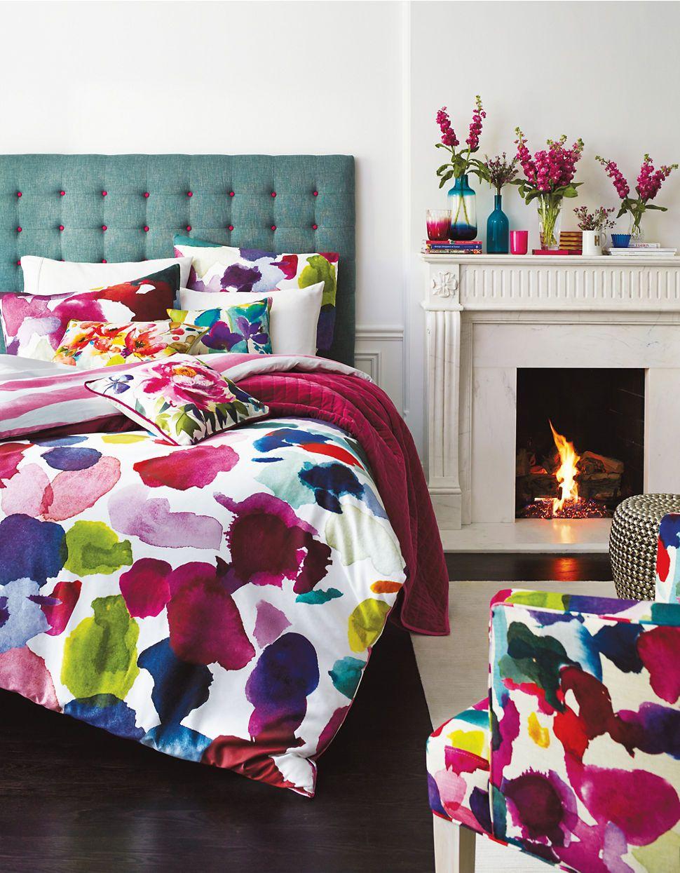 Duvet Cover Sets Abstract Watercolour Fl Set Hudson S Bay