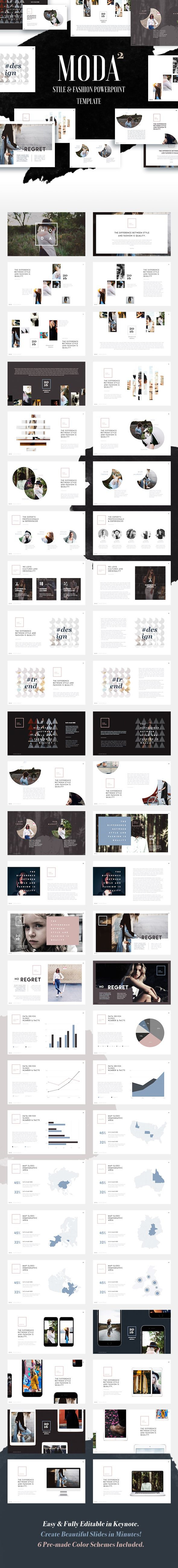 Fashion and Style Powerpoint Template (Moda 2) | Presentation ...
