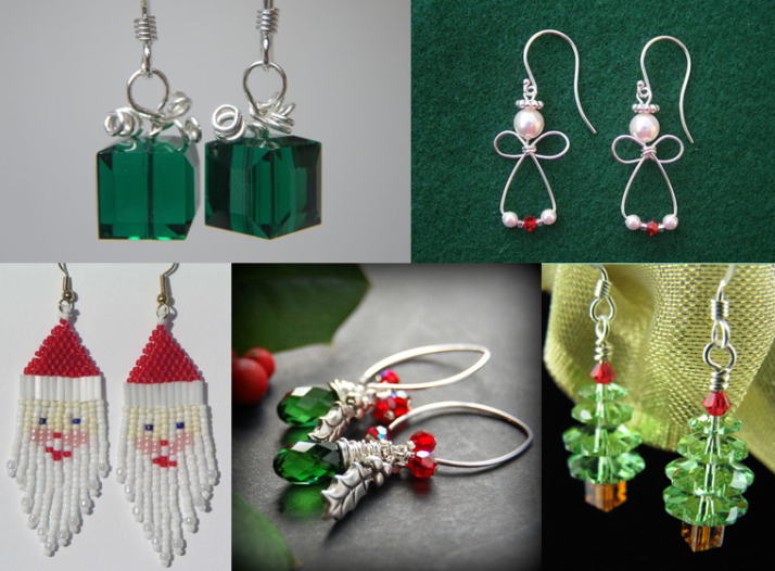 Diy Earrings For Christmas Christmas Jewelry Diy Diy Christmas Earrings Christmas Earrings