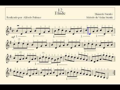 Etude Suzuki Violin Notes