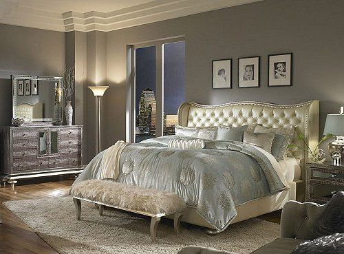Gorgeous Gray Hollywood Style Bedroom Decorating Picture Ideas Old
