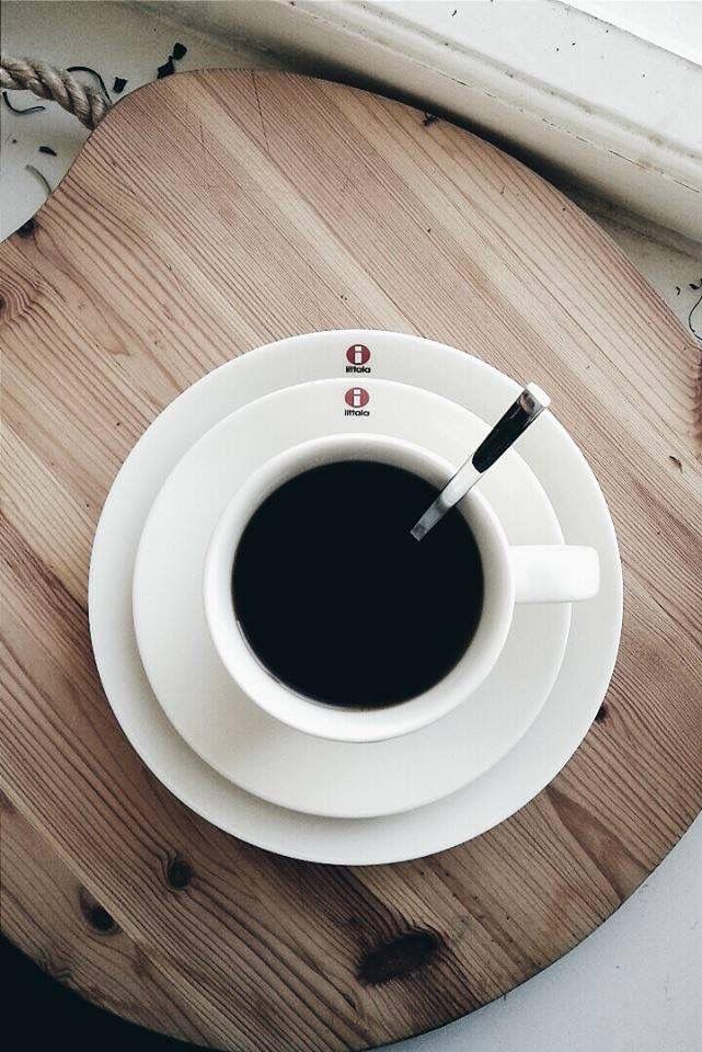 Coffee time. Iittala teema white