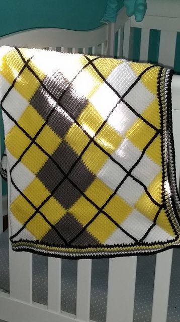 Argyle Entrelac pattern by Shannan Washburn | Manta, Tejido y Colcha ...