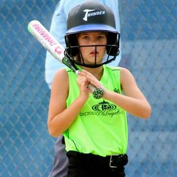 Miss Katy Bug up to bat. Bout to knock em' dead!