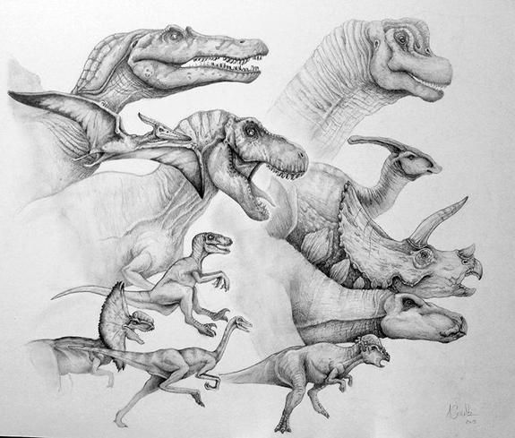 The Best of Jurassic Park by Ashley Schultz #dinosaurart