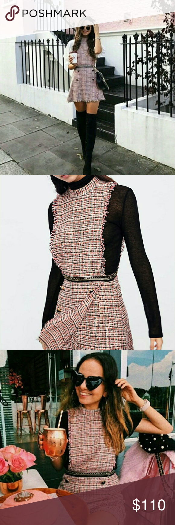4e6a382caa6 BLOGGERS FAV - Zara BASIC Tweed Playsuit Trending all over Instagram! SOLD  OUT online!