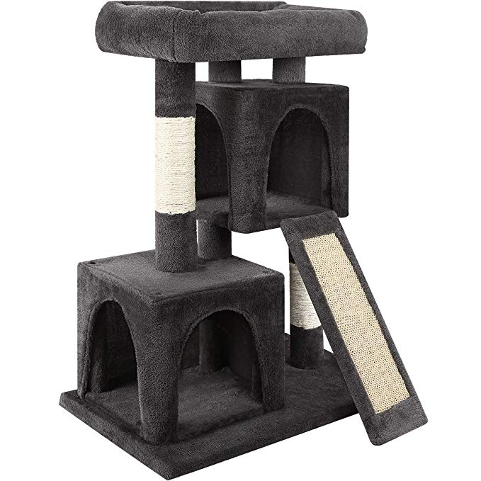 Amazon Com Urpower Cat Tree 3 Level Cat Tower 2 Plush Condos