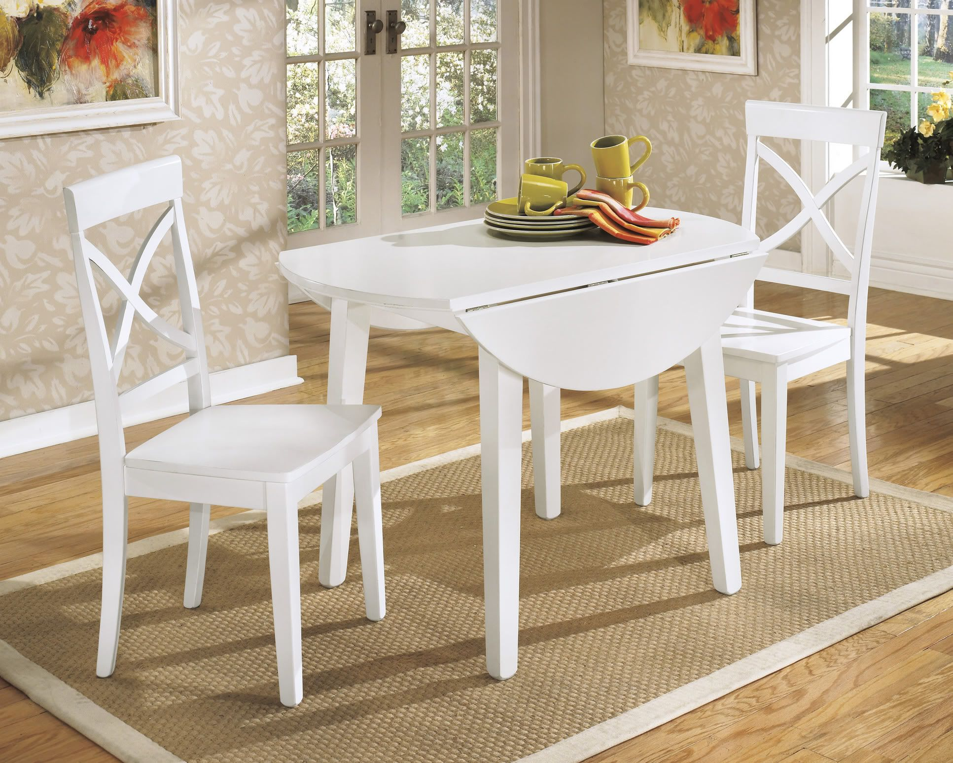 Awesome Sketch Of Beautiful White Round Kitchen Table And Chairs