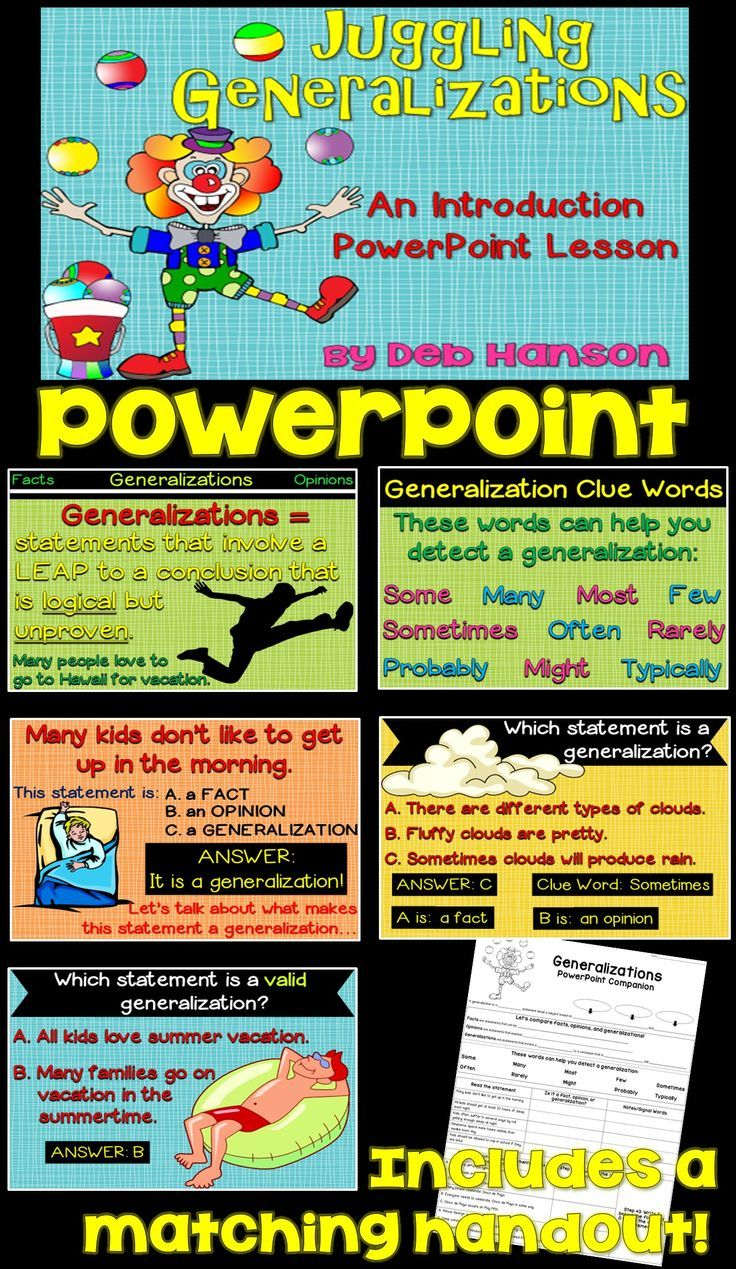 Generalizations Powerpoint (including valid vs  faulty) | 5th Grade