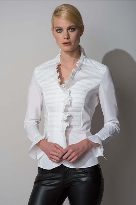Suzanna Front | tops...dressy | Pinterest | Ruffle shirt