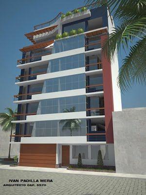 Fachada de edificio de viviendas departamentos frente al for Fachadas apartamentos modernos