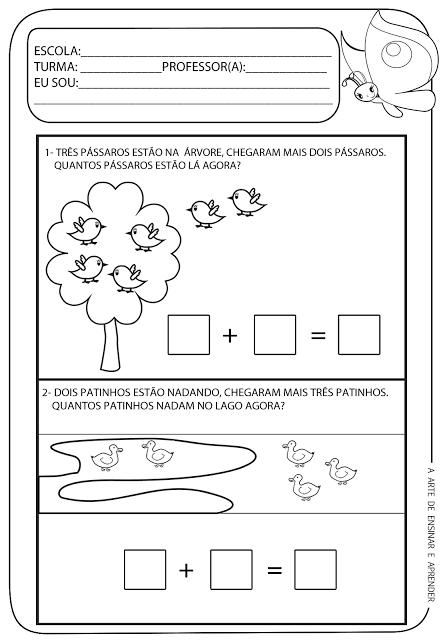 Atividades Prontas Probleminha Educație Math For Kids
