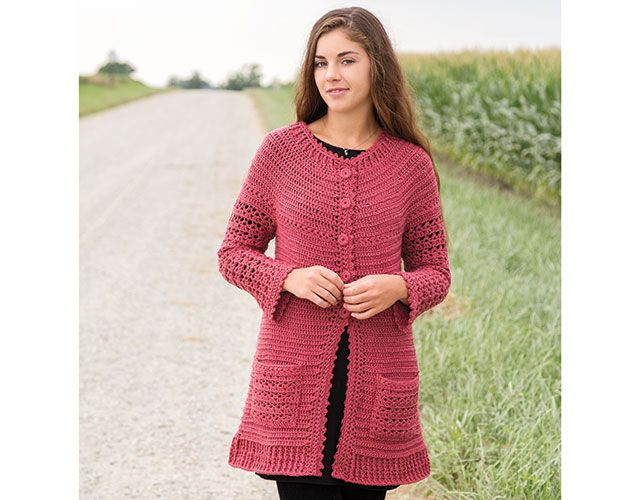Learn to Crochet a Top-Down Sweater w/Lena Skvagerson -- an Annie\'s ...