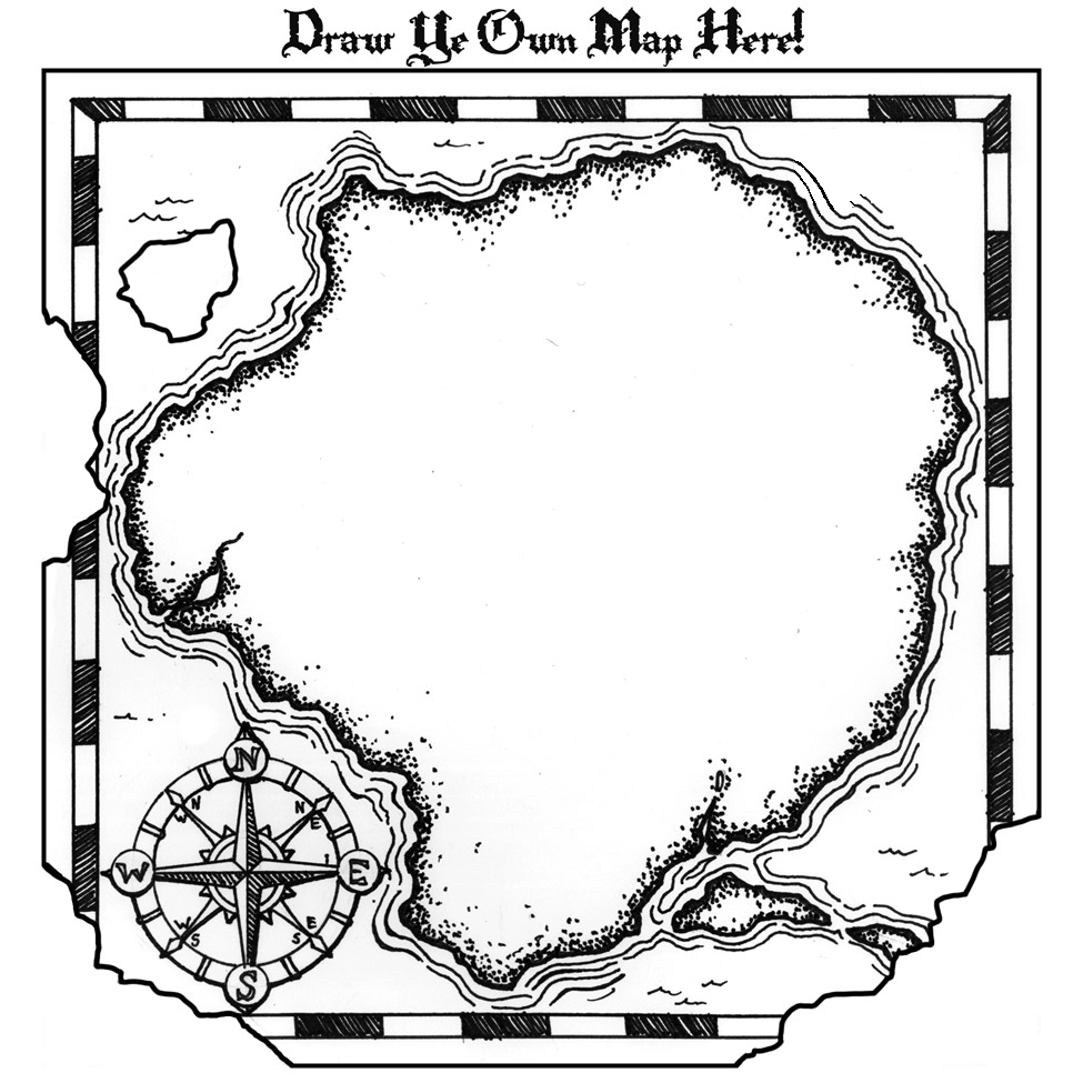free treasure map printable great way to teach map skills or kick off a fun creative writing lesson  [ 975 x 975 Pixel ]