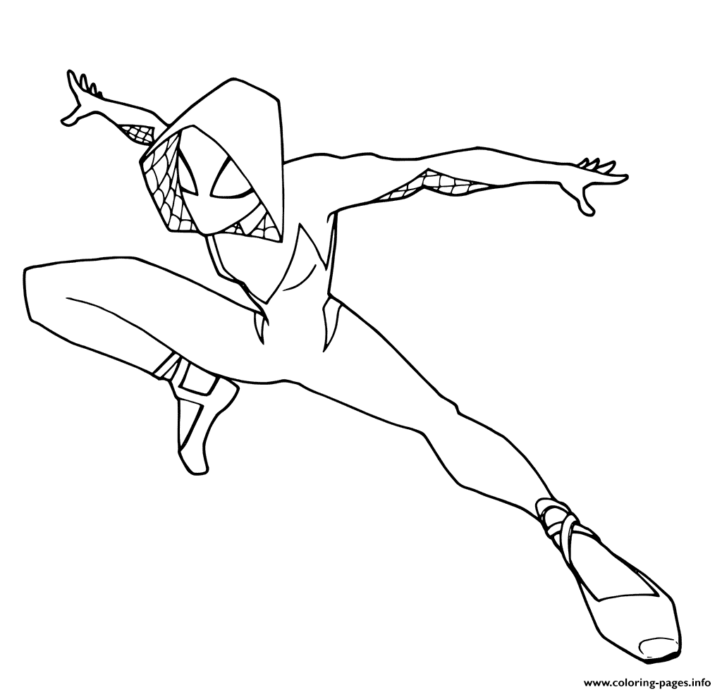 Into The Spider Verse Coloring Pages