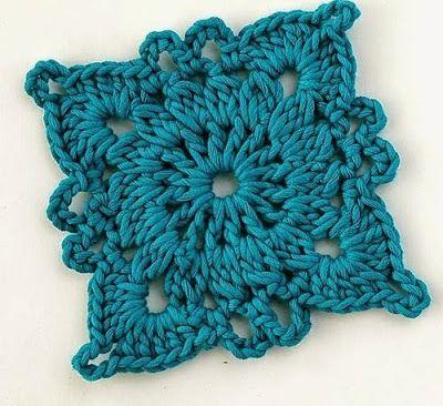 Squares crochet ~ PATTERNS CROCHET TOP