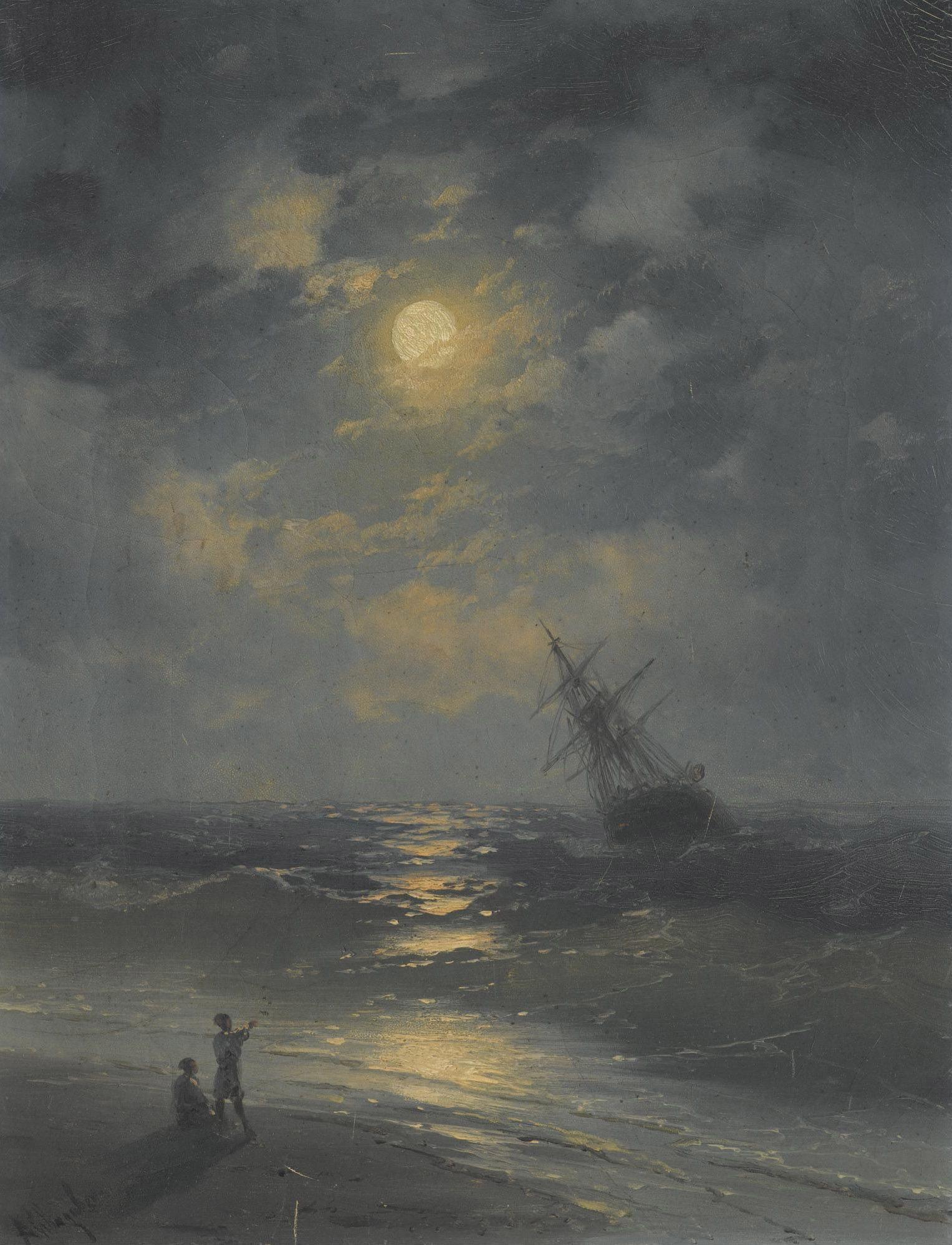 фотостудия, картина айвазовского море в лунном свете картинки наличие входило