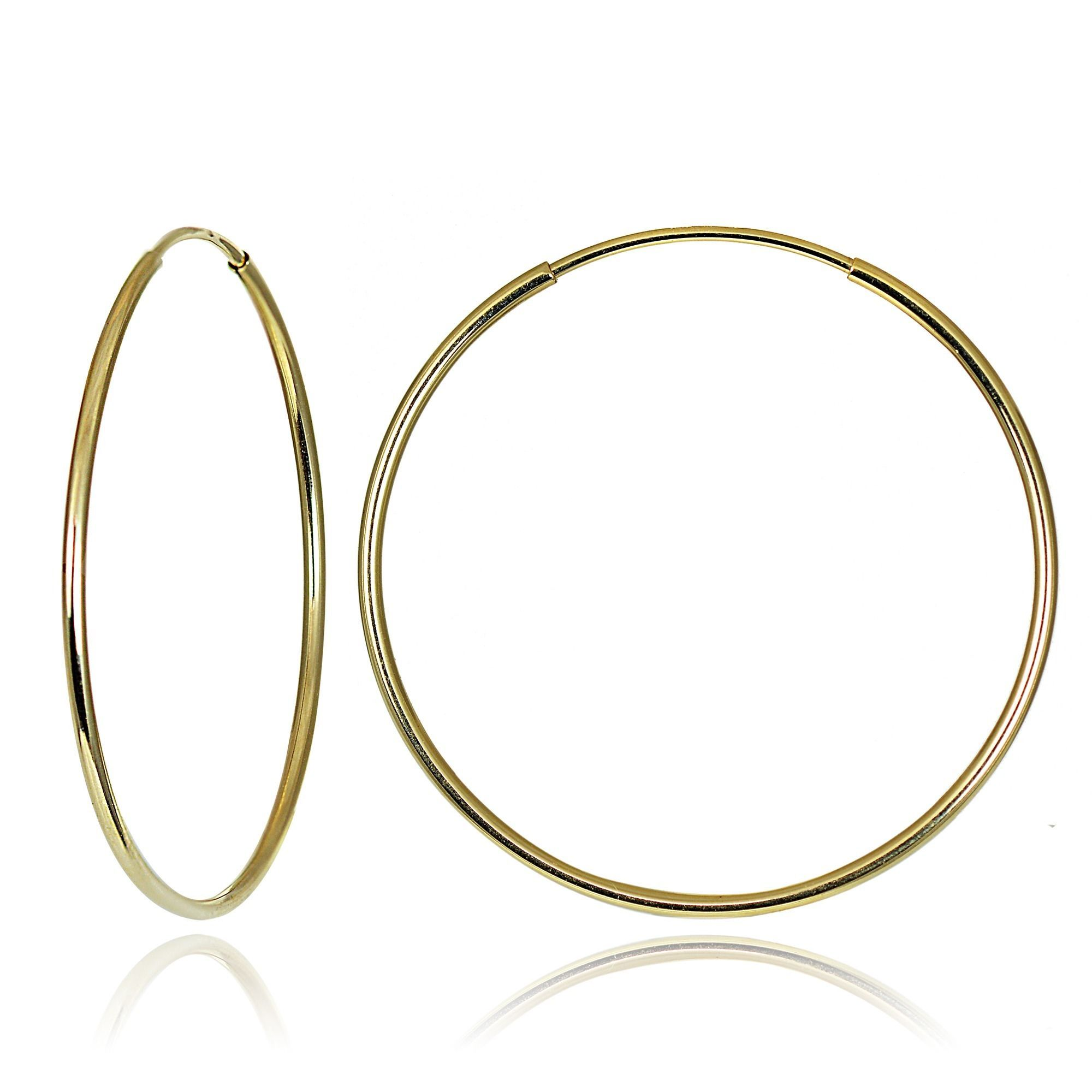 Mondevio 10k Gold 20mm Endless Hoop Earrings (10k Gold 20mm Endless Hoop  Earrings),