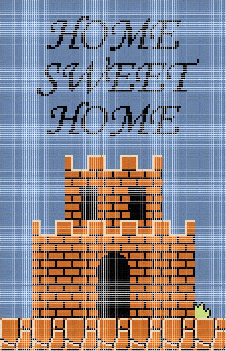 Super Mario Home Sweet Home Cross Stitch Sampler - free pattern ...