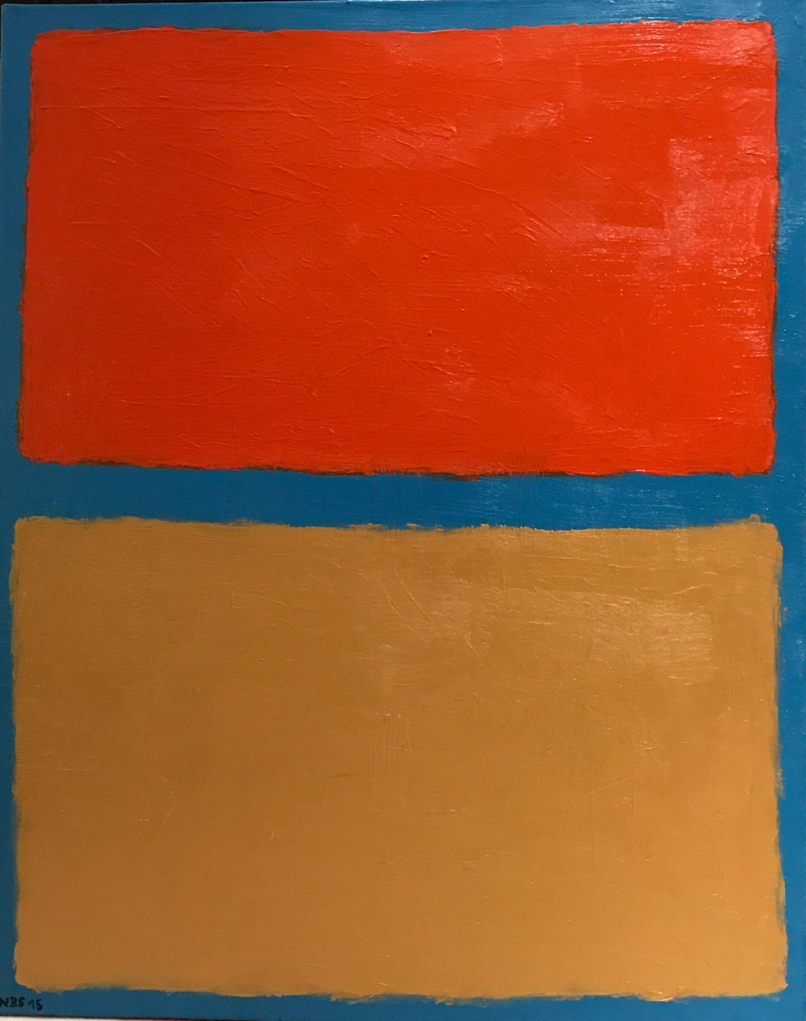 "Acrylic Painting 2015 Ralf Schneider ""3 Colors"" 100cm x 80cm"