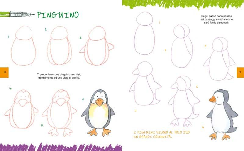 Célèbre imparare a disegnare un pinguino | Kids | Pinterest | Disegnare  PX37
