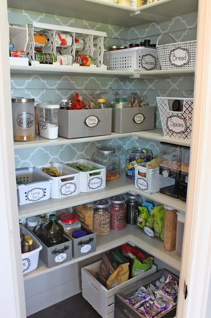 Organized Pantry: Reader Space (A Thoughtful Place) #pantryorganizationideas