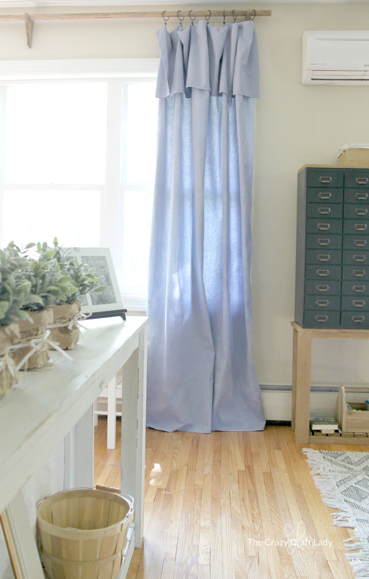 Diy No Sew Drop Cloth Curtains A Cheap Diy Curtain Rod Diy