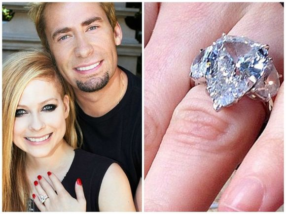 Charming Avril Lavigneu0027s Engagement Ring From Chad Kroeger | Http://MiaCo.us/