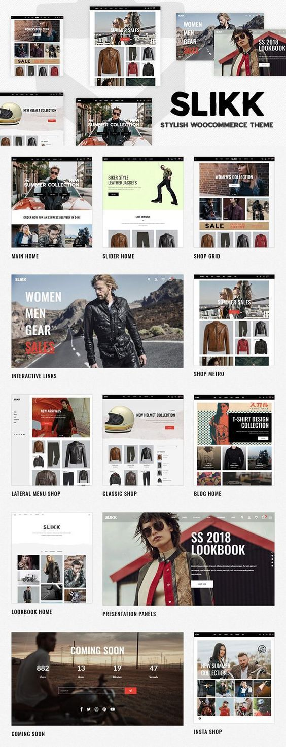 Slikk - A Stylish WooCommerce WordPress Theme. An elegant and stylish eCommerce theme ideal for fashion, clothing, cosmetics, accessories, and more! Fully responsive and easy to customize. #WordPress #eCommerce #fashion #clothing #responsive #theme #website