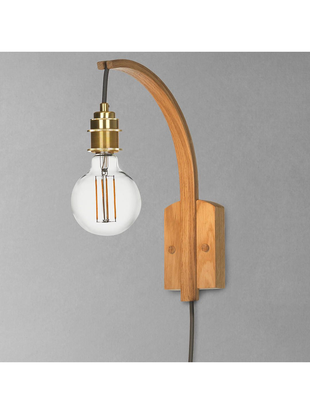 Tom Raffield Hanter Wall Light Oak Wall Lights Tom Raffield Tom Raffield Lighting