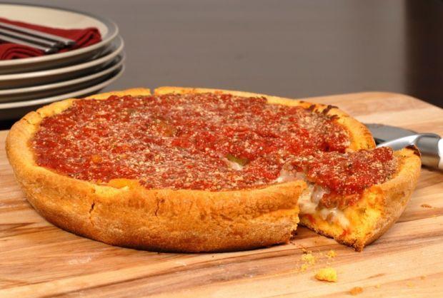 Gluten Free Chicago Style Deep Dish Pizza Deep Dish Pizza Recipe Deep Dish Pizza Chicago Deep Dish Pizza