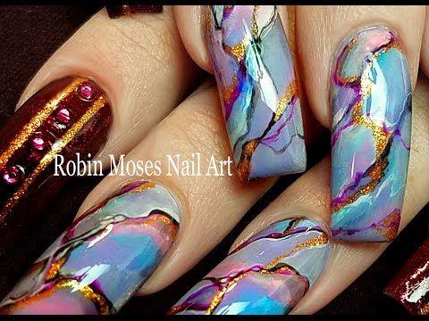 Diy Granite Nails Diva Stone Effects Nail Art Design Tutorial You