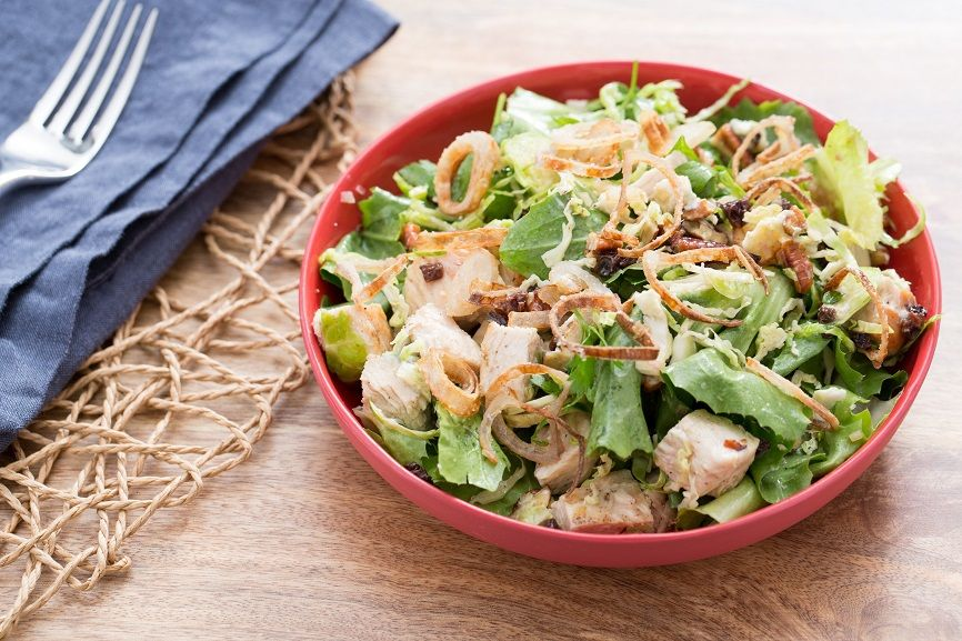 Chopped chicken and Brussels sprouts salad [Recipe]