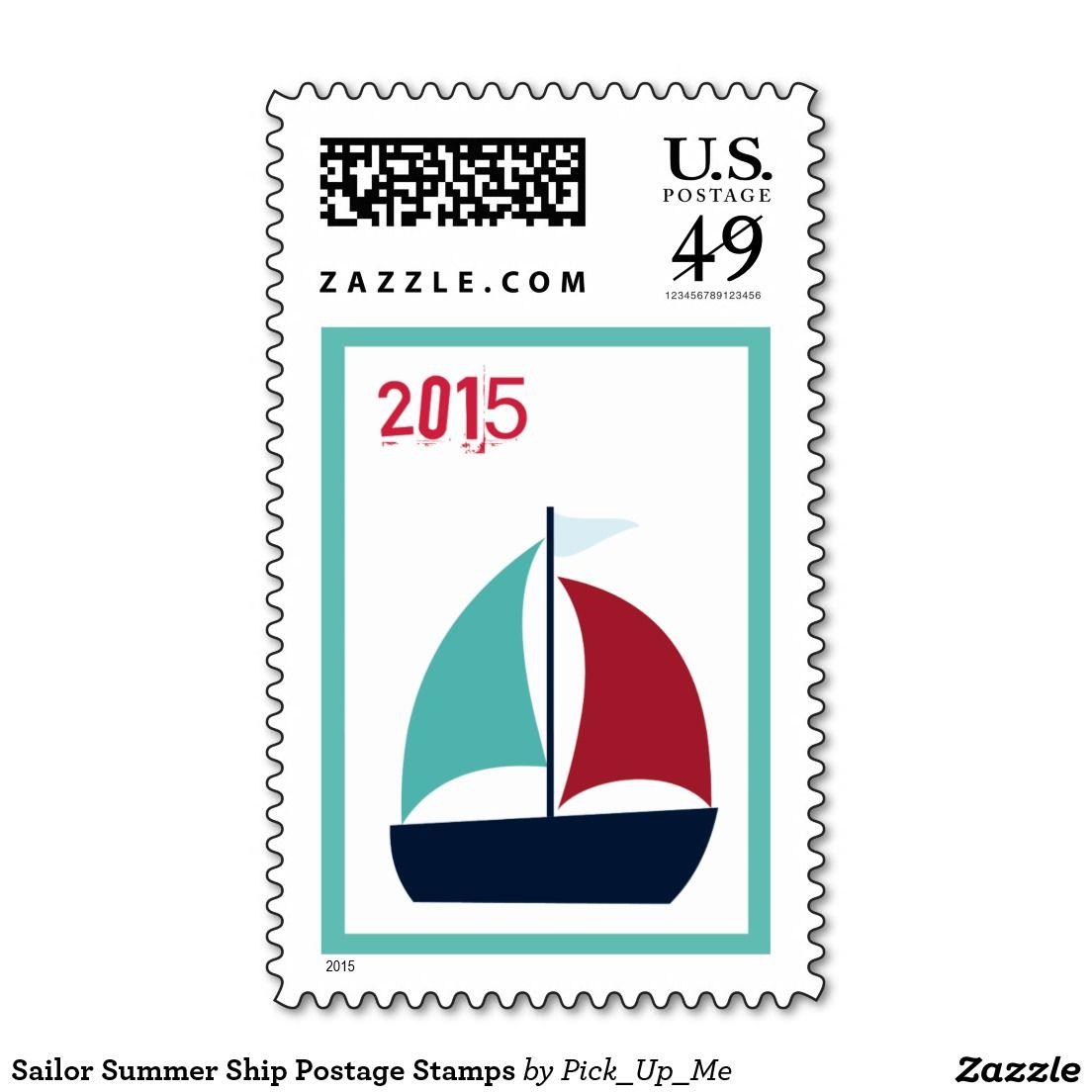 Sailor Summer Ship Postage Stamps