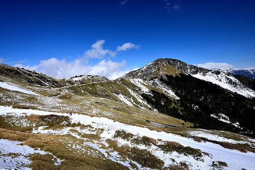Snow scene at Mt. Hehuan 合歡雪季