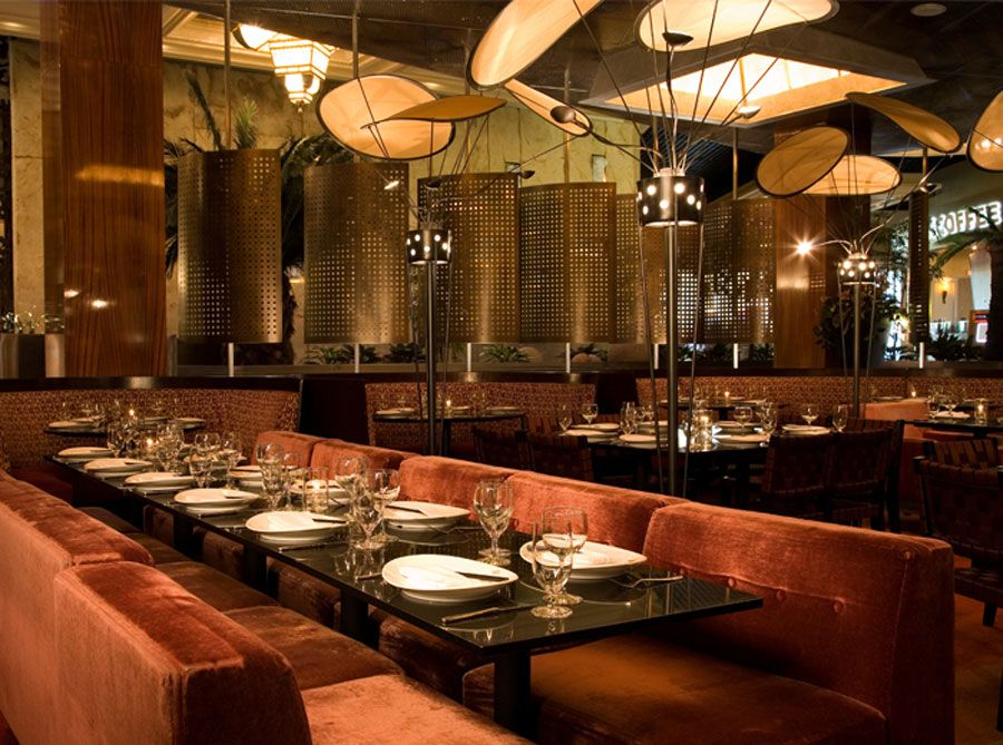 Glamor and contemporary restaurant interior design of