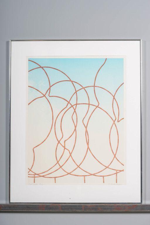 Kristian Krokfors, 1984, serigrafia, 54x42 cm, vedos taiteilijavedos 3/5 - Huutokauppa Helander 10/2015