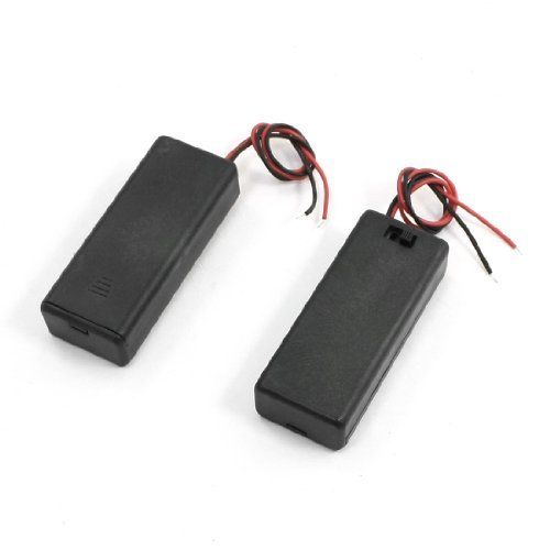 Dimart 2pcs Spring Loaded 2 X 15v Aaa Battery Holder Box Storage W Cover Click Image For More Details Battery Holder Battery Pack Aaa Batteries