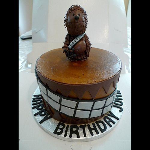 custom chewbacca birthday cake birthday cakes pinterest star