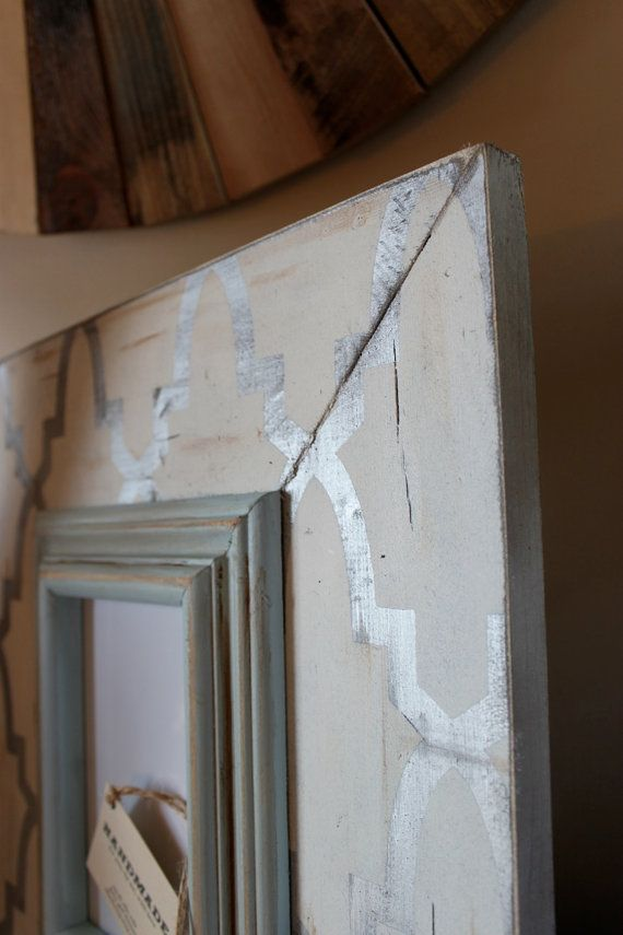 Enrejado angustiado 5 x 7 marco de madera plata por deltagirlframes ...