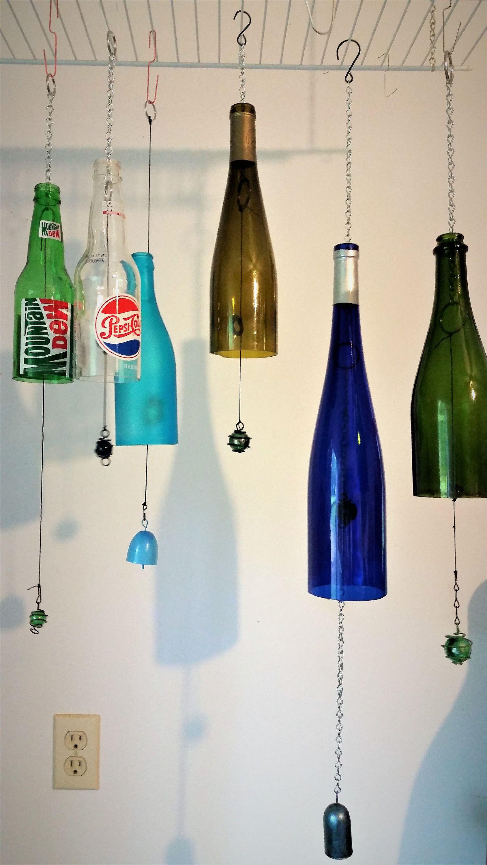Glass Bottle Wind Chimes Wine Bottle Windchimes Outdoor
