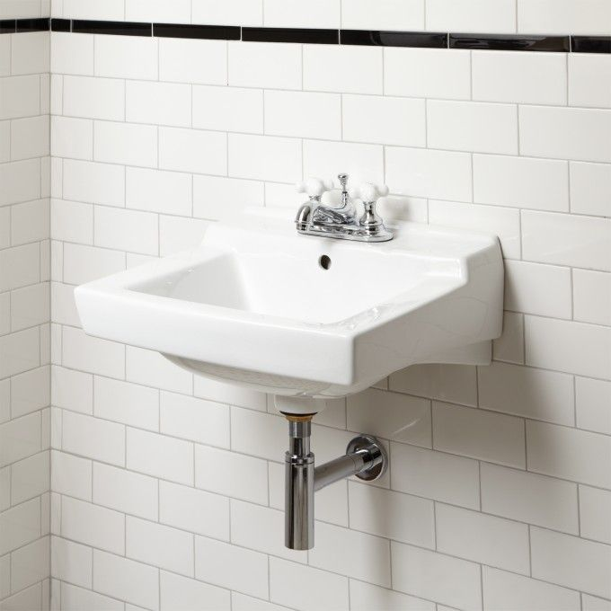 Bon Griffith Wall Mount Sink   Single Hole Drilling   White; 19.25; $159.95