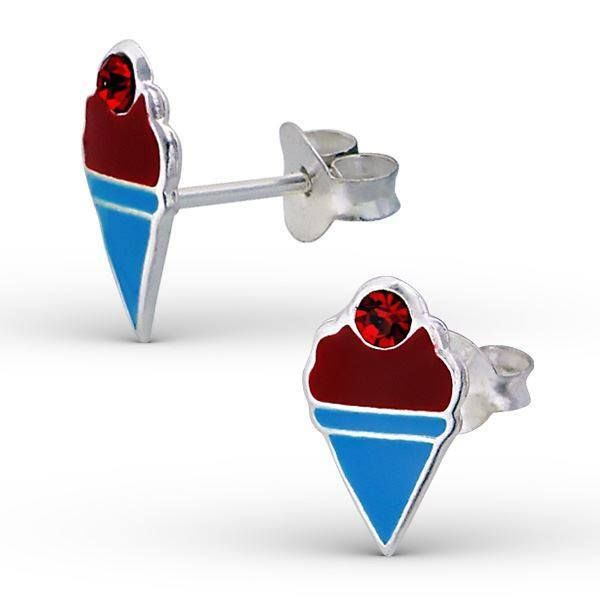 Free Gift Boxed Butterfly Clasp Fairy Angel 925 Sterling Silver Childrens Stud Earrings Silvadore