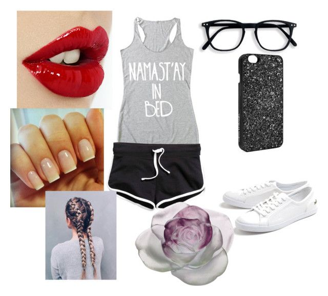 """""""A day at the park"""" by katthebestcasiethedesigner ❤ liked on Polyvore featuring Lacoste, Victoria's Secret and Daum"""