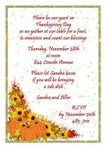 Thanksgiving Dinner Party Invitation At Cardsshoppe Com Holiday