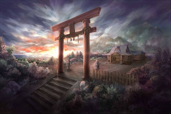Torii Gate Wallpaper Iphone Google Search Fantasymangaanime