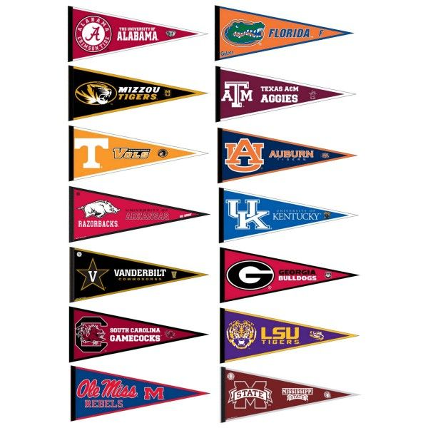 sec pennant set includes all sec conference team pennants