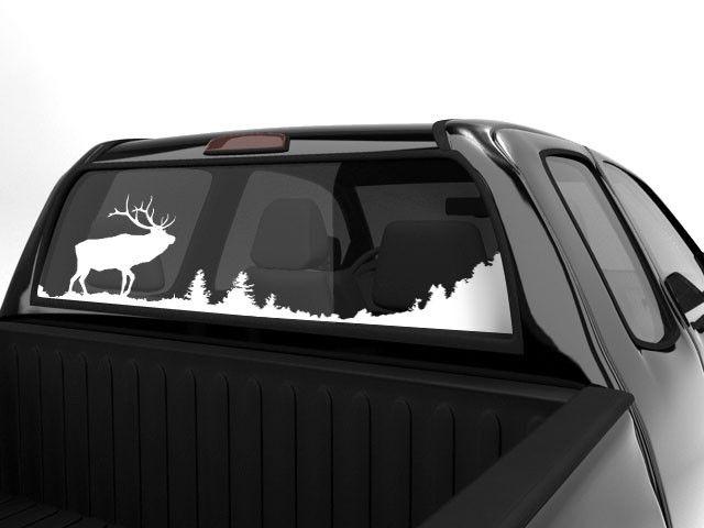 Elk scenery decal for rear window